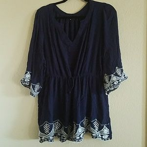 PaperMoon 3x navy and white tunic